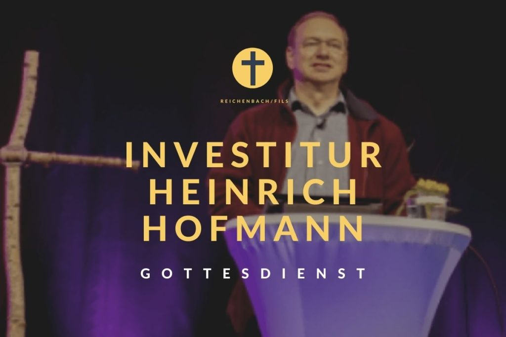 Einladung zur Einsetzung von Pfarrer Heinrich Hofmann am 24. Januar